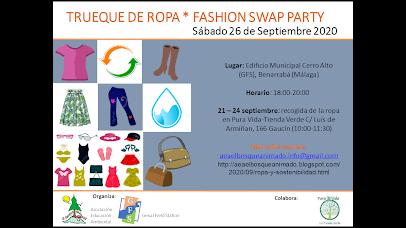 Cartel Trueque ropa fashion swap party Benarrabá 2020