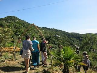 Visita a huerta de permacultura en Gaucín. Serranía de Ronda. AEA Bosque Animado