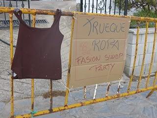 Pancarte anuncio Trueque de ropa intercambio GFA Benarrabá