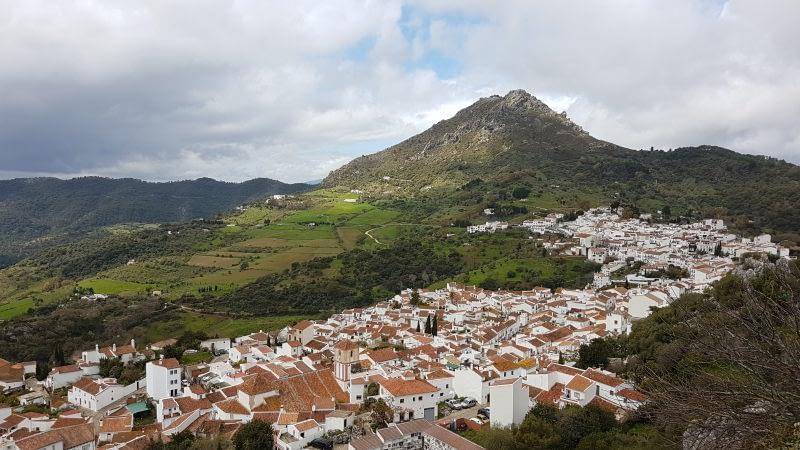 El Hacho de Gaucín. Vista del el Castillo de las Águilas (Gaucín)
