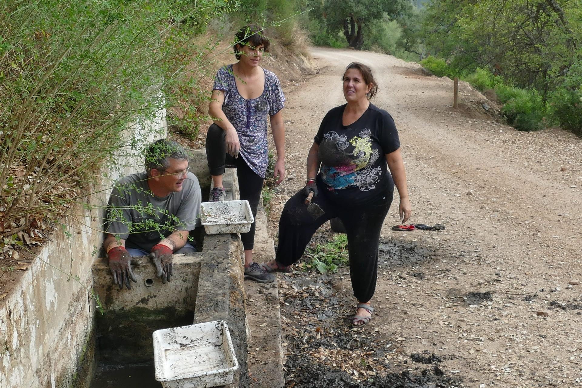 Group of local environmental volunteers