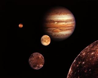 Jupiter y saturno. Cielo nocturno Benarrabá
